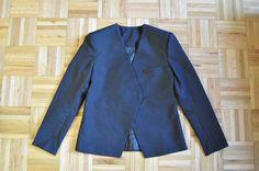 Lapel-less blazer