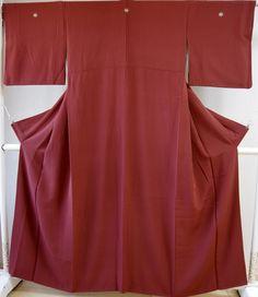Kimono Dress Japan Vintage Geisha costume used silk Iromuji Kamon 169R15R14