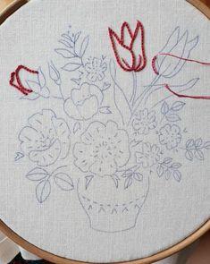 자수발란스 : 네이버 블로그 Hand Embroidery Patterns, Ribbon Embroidery, Embroidery Art, Cross Stitch Embroidery, Embroidery Designs, Crochet Squares, Crochet Stitches, Crochet Patterns, Art Textile
