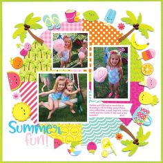 Sweet Summer, a truly delightful collection of all things reminiscent of Summer days on the beach. Layout created by Tonya Prawitt...