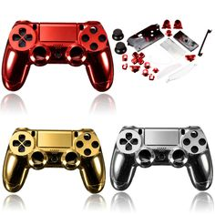 Perfect Newest Chrome Plating Housing Shell Case Full Mod Kits for PlayStation for Controller Parts Multicolors