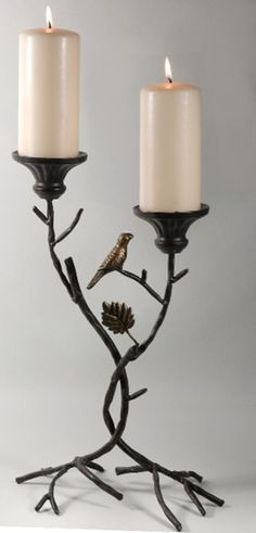 "17"" Metal Branch Pillar Candle Holder $9 each"