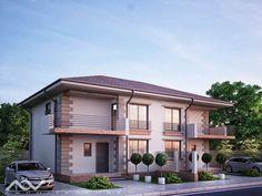 casa duplex 308 Plan General, House Design, Mansions, House Styles, Outdoor Decor, Home Decor, Sims, Duplex House, Homes