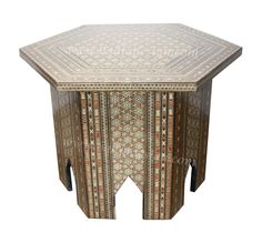 Syrian Design Inlay Side Table - MOP-ST053, $950.00 (http://www.badiadesign.com/syrian-design-inlay-side-table-mop-st053/)