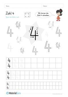 NEU: Ein kostenloses Mathe-Arbeitsblatt zum Schreiben lernen der ...