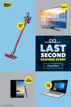 HURRY! Deals end DEC 24.—Save on the brightest tech stars of the holiday season during our Last-Second Savings Event. Plus, wrap it all up faster than ever with our Fast Store Pickup all the way through December 24. For details, see BestBuy.com/StorePickup.