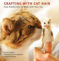 Are-your-favorite-sweaters-covered-with-cat-hair-Are-there-fur-balls-piled-up-in-every-corner-of-your-home-And-do-you-love-to-make-quirky-and-one-of-a-kind-crafting-projects-If-so-its-time-to-throw-away-your-lint-roller-and-curl-up-with-your-kitty-This-title-shows-readers-how-to-transform-stray-clumps-of-fur-into-soft-handicrafts
