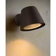 Lucide Dingo - buiten wandlamp - x x 9 cm - dimbare LED incl. Led Outdoor Wall Lights, Led Wall Lights, Outdoor Walls, Applique Led, Led Lamp, Interior Design Living Room, Lightning, Bulb, Metal