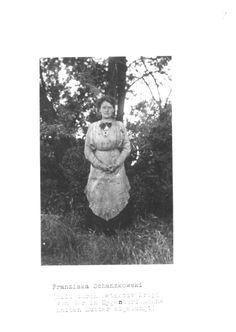 The only surviving photograph of Franziska Schanzkowska before her suicide attempt in 1920 before she claimed to be Grand Duchess Anastasia Romanov.