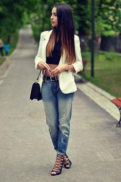 top - choies jacket - sheinside pants - mango bag - h & m shoes - stylowebuty.pl