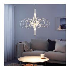 ÄLVSBYN LED chandelier, white - white