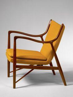 Möbeldesign: Im Chefsessel Vorm KaminJuhl 45 Chair