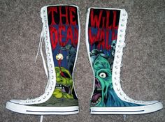 Zombie shoes by ~Cerpin23 on deviantART