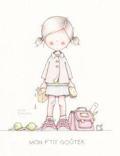 by Celine Bonnaud Art And Illustration, Illustration Mignonne, Illustrations, Watercolor Illustration, Child Draw, Art Mignon, Celine, Picture Sharing, Fantasy Books