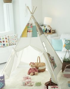 - - - Buy a teepee card or poster at www. Kids Tents, Teepee Kids, Teepee Tent, Girl Room, Girls Bedroom, Baby Room, Playroom Decor, Kids Decor, Indoor Tents