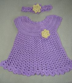 Sweetest Baby Crochet dress