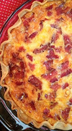 For a great dish that can be served for breakfast, lunch or dinner, Bacon Cheddar Quiche is one of my favorite go-to recipes. It's easy to make and more than likely you have everything … Breakfast Desayunos, Breakfast Items, Breakfast Dishes, Breakfast Recipes, Breakfast Cupcakes, Quiches, Quiche Recipes, Brunch Recipes, Bacon And Cheese Quiche