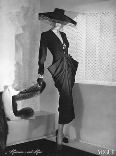 Cocktail dress as seen in Vogue, 1942