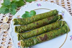 Photo about Green nettle pancakes, cooking vegetarian healthy food with wild plants. Image of nettles, healthy, food - 72333502 Vegetarian Cooking, Finger Foods, Asparagus, Pancakes, Brunch, Food And Drink, Low Carb, Healthy Recipes, Healthy Food