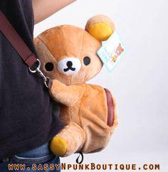 San-X Rilakkuma Fuzzy Plush Bag