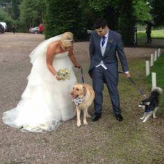 Ruth y Thomas con Brit y Loki en su boda <3 11/06/16