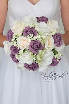 Purple Wedding Flowers Blush and Wisteria wedding flower brides bouquet with roses, peonies and silver dollar eucalyptus and babies breath Simple Wedding Bouquets, Purple Wedding Flowers, Bride Bouquets, Bridal Flowers, Flower Bouquet Wedding, Floral Wedding, Wedding Colors, Blush Bouquet, Plum Wedding