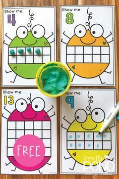 Spider Counting MathLearn about numbers and counting with our fun spider themed ten frame activity cards Preschool Math, Kindergarten Classroom, Fun Math, Teaching Math, Ten Frame Activities, Preschool Activities, Math Stations, Math Centers, Halloween Math