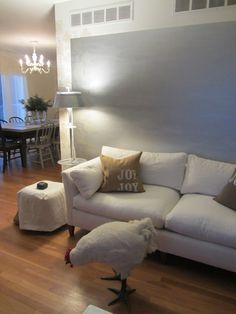 Sleek Silver Walls, Puff, Love Seat, Couch, Furniture, Home Decor, Decorating Ideas, Decoration Home, Room Decor