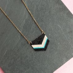 Are you interested in our chevron bead brass necklace? With our handmade pastel chevron necklace you need look no further. Chevron Necklace, Brass Necklace, Arrow Necklace, Beads, Handmade, Jewelry, O Beads, Jewellery Making, Beading
