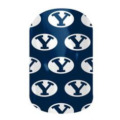 BYU Fans! These nail wraps are perfect for you!  Click the picture to get them now! No dry time, non-toxic, vegan, allergy friendly and lasts about 2 weeks on your mani!
