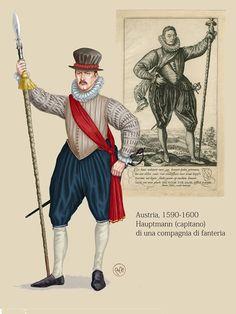 Austrian Infantry Hauptmann, 1590-1600