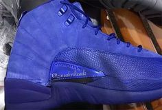"The Air Jordan 12 returns in a new premium ""Deep Royal"" colorway this November 2016 featuring a suede royal upper. Price: $200 USD."