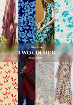Patternbank bring you part 2 of the strongest print and pattern trends seen at the recent Resort 2018 collections. A creative mix of patterns ranging from vibrant circus inspired stripes and geometrics, to an eclectic collection of conversational prints, with floral patterns in a simple minimal colour palette,