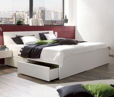 Schön Schlichtes Bett Mit Schubladen Ohne Nachttische