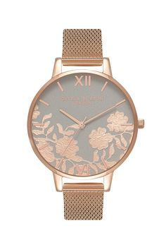 faa893533f9   Lace Detail Watch by Olivia Burton - Bags   Accessories- Topshop Europe  Grey