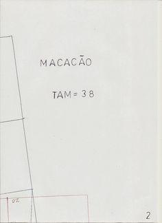Como não podia faltar na página hoje vou publicar o molde base de macacão tamanho 38. Para imprimir deve guardar as imagens e em seguida imprimir no...