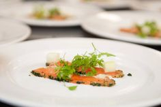 The delicious Salmon gravlax with chervil, fresh apple and cider jelly, available on our Events Winter menu 2013