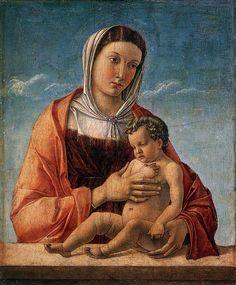 Giovanni Bellini I Madonna with the Child, 1460-1464, oil on canvas, 52×43cm, Museo Correr, Venezia. Il un museo della città di Venezia, situato nel sestiere di San Marco, presso Piazza San Marco e fa parte della Fondazione Musei Civici di Venezia.