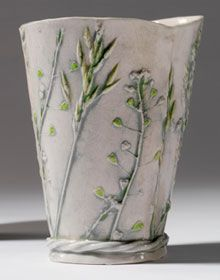 Shepherd Purse beaker by Sue Dunne
