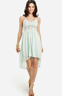Lace Bodice High Low Dress @Danielle Lampert Rowland
