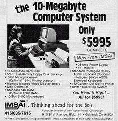 "The ""10MB Computer System"" cost $5995 in 1977! 36 years later you get a much better computer in your phone for a fraction of the cost."