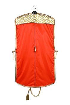 Travel Garment Bags - Labyrinth Gold Wayfarer Garment Bag | Hudson+Bleecker
