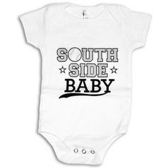 Southside Baby Onesie | baseball baby onesie for your little sox fan!