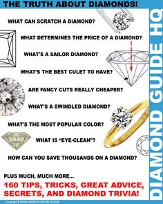 ► ► Read the Tips, Tricks, Secrets, Trivia, and Truth about Diamonds!
