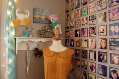 darling inspiration corner! Love the wall! Need to print out my postal pix!