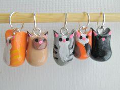 Cat Stitch Markers by DotDotSmile on Etsy
