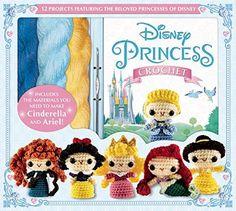 Disney Princess Crochet Kit and Amigurumi Pattern Book