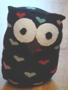 Gwdihw  (that's Owl in welsh you know) Stuffed sock animal by welsheggdesigns