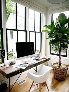 Creating a serene office space #homedecor #office #woodelements