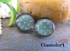 DOT  8 x  Handmade Photo Glass Cabs Cabochons 12mm  by ciaocolor, $2.40